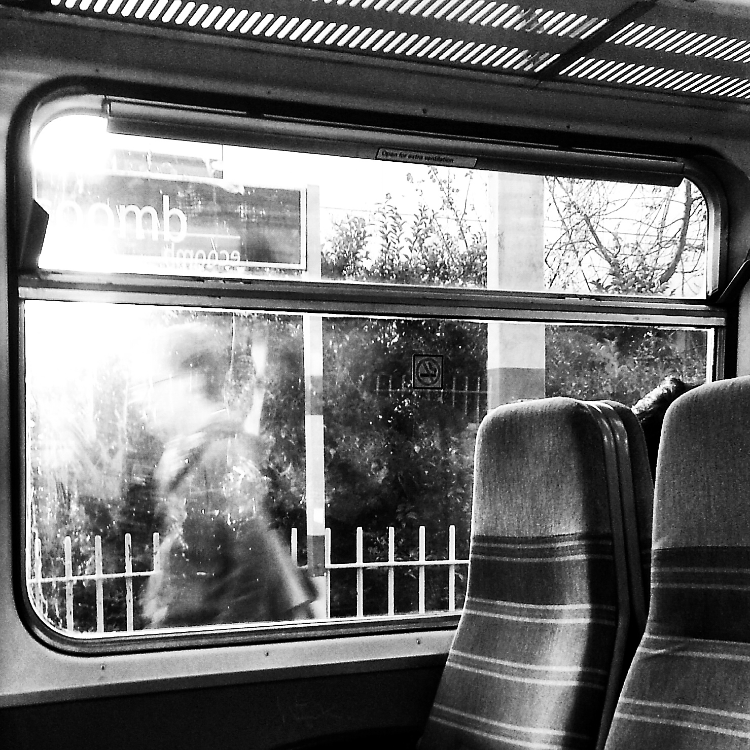 Commute 9 - Woman shrouded in morning light