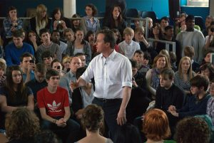 David Cameron delivering his speach at Varndean College ii: David Cameron Visits Varndean College, Brighton during General Election 2010