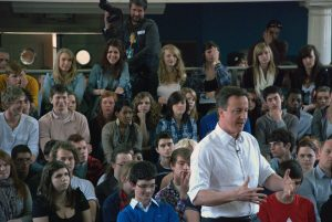 David Cameron delivering his speach at Varndean College iii: David Cameron Visits Varndean College, Brighton during General Election 2010