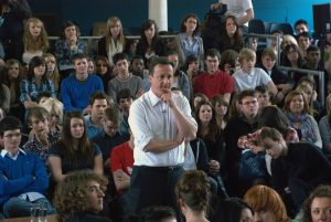 David Cameron delivering his speach at Varndean College iv: David Cameron Visits Varndean College, Brighton during General Election 2010